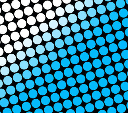 Abstract image of rows of blue and white spots on black Stock Photo - 2387806