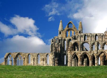 abbey ruins abbey: Whitby Abbey ruins