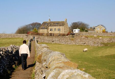 Countryside view of pathway in Grassington, Yorkshire, UK. Stock Photo - 3228282