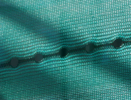 nylon: Close-up of the holes in nylon netting