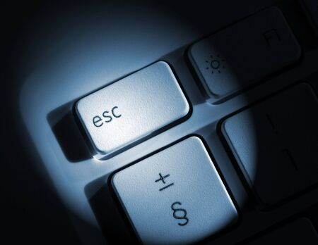 esc: Spolight effect applied to laptop escape key