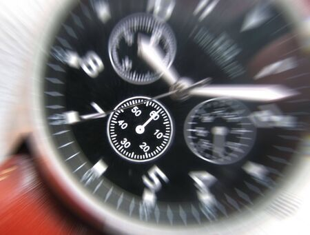Zoom effect applied to dial of wrist watch Stock Photo - 3393072
