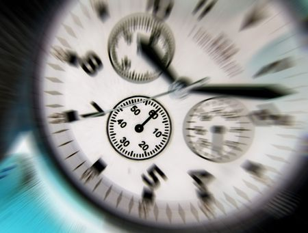 Negative effect applied to dial of wrist watch Stock Photo - 3403551