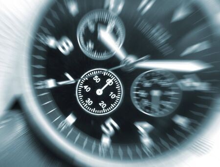Zoom effect applied to wrist watch face Stock Photo - 3451038