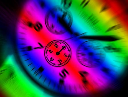 Rainbow colors applied to dial of wrist watch Stock Photo - 3465973