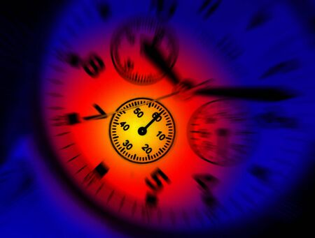 Colorful lighting effect applied to dial of wrist watch Stock Photo - 3521640