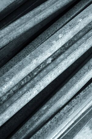 metal sheet: Close-up of metal sheets stacked against wall
