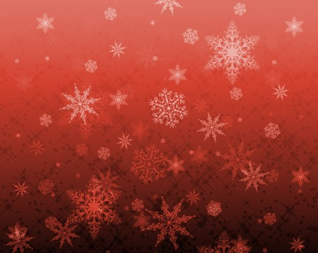 Star and snowflake pattern for xmas backgrounds Stock Photo