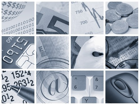 financial item: Collection of images relating to financial concepts