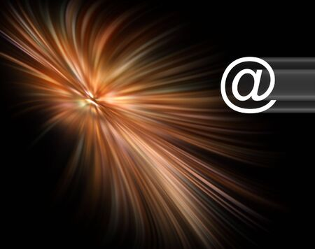 http: Internet concept showing email symbol overlaid over streak abstract