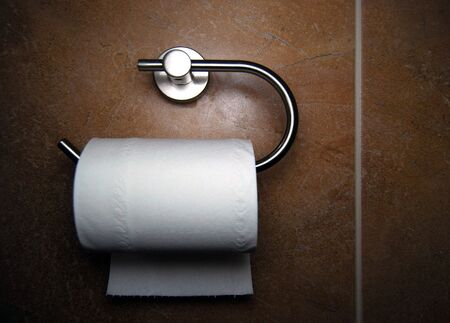 diarrhoea: Close-up of toilet roll holder in bathroom