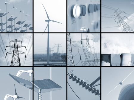 Set of twelve images relating to electricity Stock Photo - 4882661