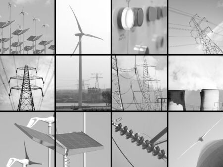 Set of twelve images relating to electricity Stock Photo - 4892278