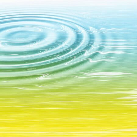 ripple effect: Water ripple effect applied to yellow blue abstract