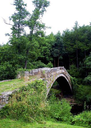 beggars: Beggars Bridge in Glaisdale village, North Yorkshire. Stock Photo
