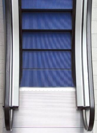 conveyor rail: Closeup of empty escalator in shopping mall