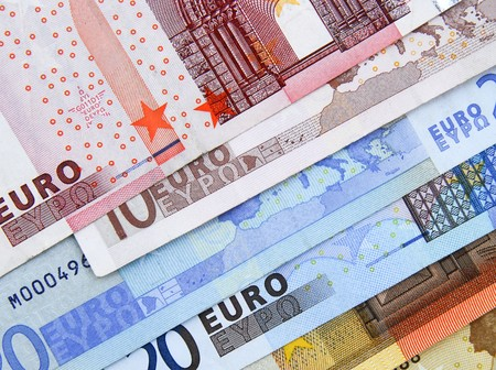 Close up of  selection of Euro bank notes Stock Photo - 6866126