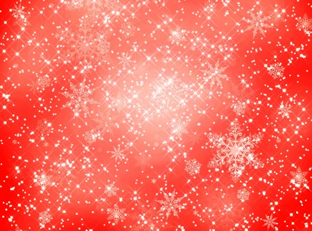 Red snowflake and star pattern for backgrounds photo