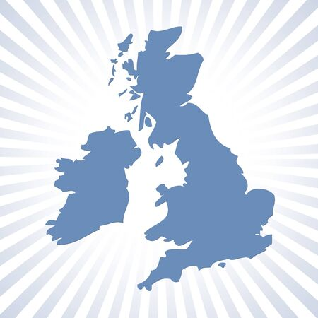england map: Circular stripe pattern with UK outline map