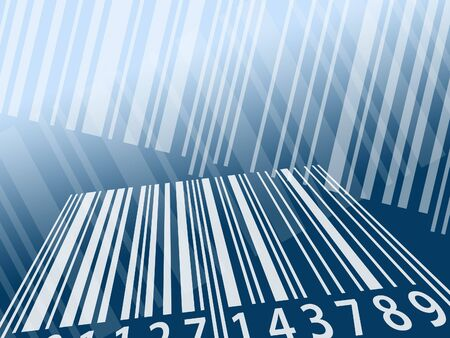 Illustration using barcode stripes as background pattern