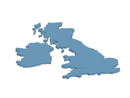 Three dimensional outline map of UK and Eire photo
