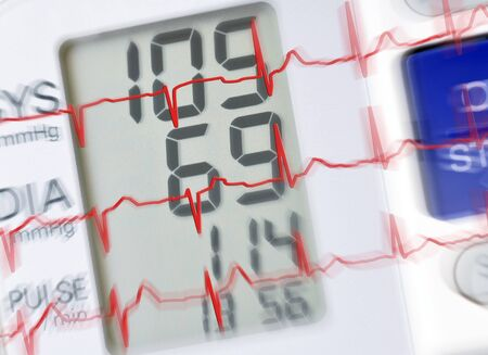 presure: Blood presure monitor with ecg reading and zoom effect