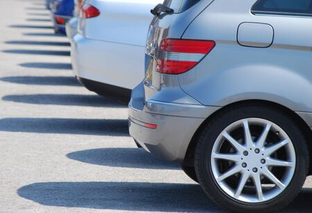 Telephoto view of row of parked cars Stock Photo - 7606791
