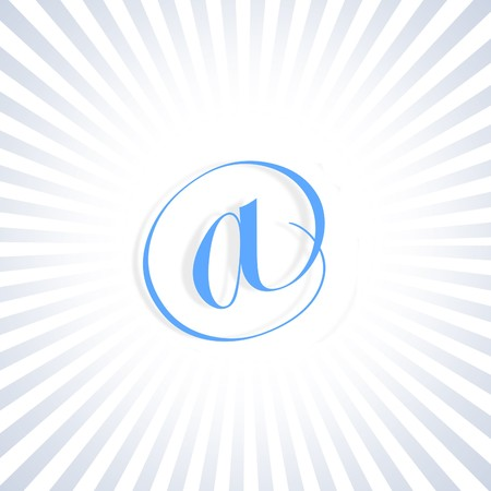 converging: Illustration showing converging stripes on email symbol