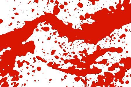 blood splatter: Blood splatter illustration for backgrounds and fills Stock Photo