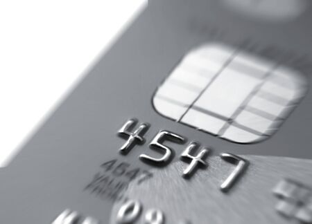 Closeup of credit card with zoom effect