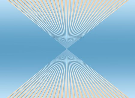 disappear: Mirrored lines disappearing into graduated blue background