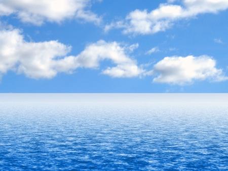 cielo y mar: Fondo de cielo y agua simulada o tel�n de fondo