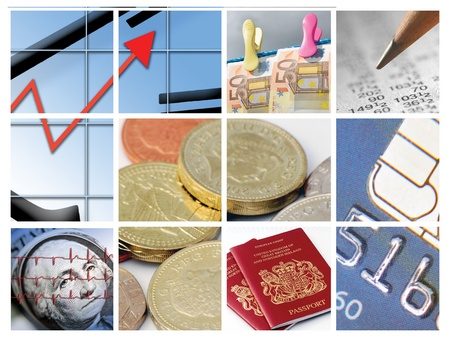 Twelve images relating to business and finance Stock Photo - 11811782