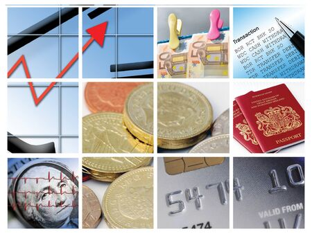 Twelve images relating to business and finance photo