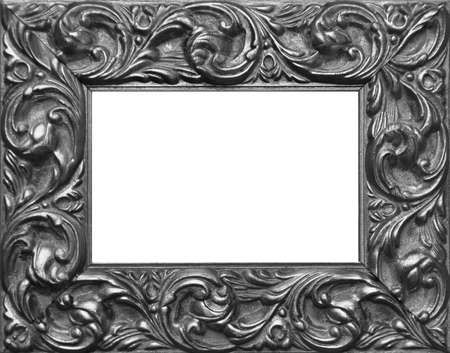 Closeup of an old wooden picture frame