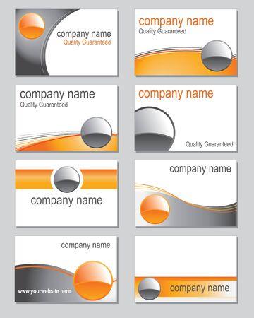 visitekaartje: Selectie van visitekaartje ontwerpen gebaseerd op een oranje thema