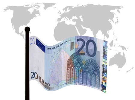 Euro concept illustrating how the Euro is effecting world economies photo