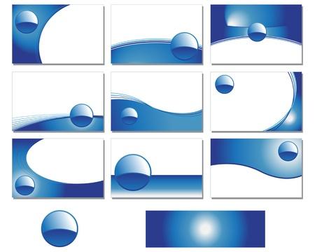 visitekaartje: Negen blanco visitekaartje ontwerpen Stock Illustratie