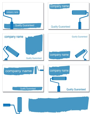 Six business card designs Vector