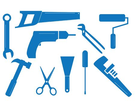 Ten tool shapes for different trades Vector
