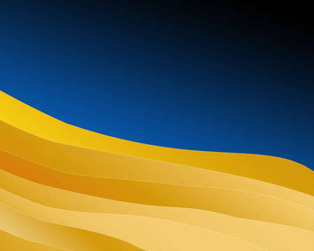 comprising: Background abstract comprising of layers of yellow graduated fills with blueblack sky