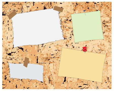 Note paper on cork board pattern Stock Vector - 12482830