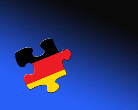 A single jigsaw piece filled with flag of Germany photo