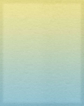 Scanned section of paper toned yellow and cyan Stock Photo - 12837706