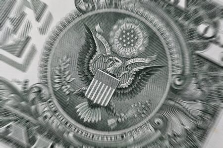 Macro image of US Dollar bill with zoom blur for effect Stock Photo - 12837730