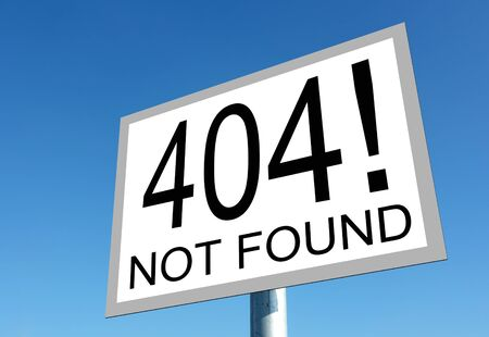 Page not found sign for missing web pages photo