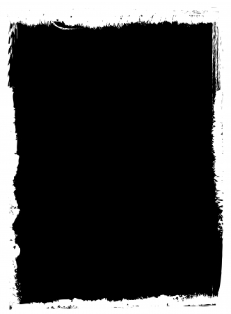 Black photo template on white with grunge style edgings
