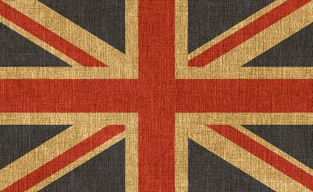 Flag of the United Kingdom overlaid over textured background. Stock Photo - 16910550