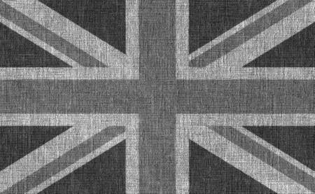 union jack: Flag of the United Kingdom overlaid over black textured background