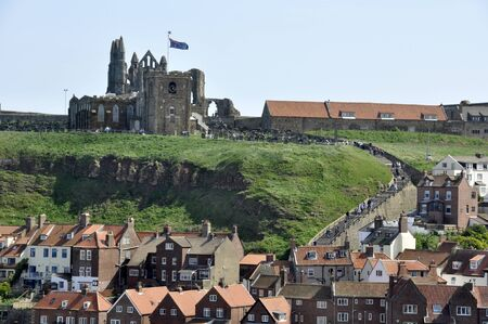 Telephoto view of houses in Whitby, North Yorkshire  Stock Photo - 17326610